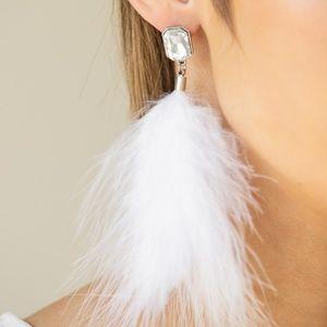 SHOWGIRL Must Go On! - White Earrings